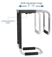 VIVO Heavy Duty Adjustable Under-Desk <b>PC</b> Mount <b>Computer Case</b> ...