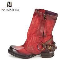 <b>Prova Perfetto</b> 2017 Winter Boots Women Do Old Leather Inner <b>Fur</b> ...