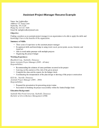 project manager resume example breakupus remarkable sample resume resume and sample resume cover best assistant project manager for job seekers