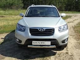 <b>Защита передняя нижняя</b> (<b>овальная</b>) 75х42 мм Hyundai Santa Fe ...