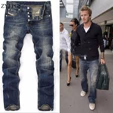 <b>2019 ZYFPGS</b> 2018 New Men Jeans Brand Frazzle Ripped Blue ...