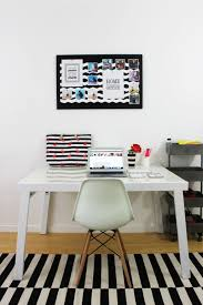 black white office makeover via lipgloss and crayons discover a blog by world black white home office inspiration