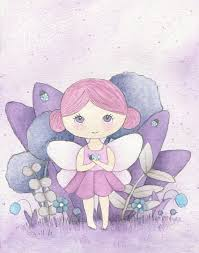 <b>Children's</b> art print, Pink Fairy, watercolour, nursery art | Art, Nursery ...