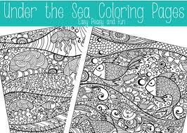 Small Picture Under The Sea Coloring Pages for Adults Easy Peasy and Fun