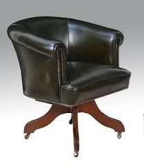 art deco green leather upholstered office chair antiques atlas art deco office chair