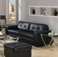 Of Living Rooms With Black Leather Furniture Furniture Black Leather Sectional Sofa With Ottoman Featuring