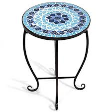 Garden & Patio Garden <b>Mosaic Side Table Plant</b> Table Outdoor ...