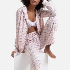 <b>Пижама</b> с принтом под рептилию розовый/ серо-коричневый <b>La</b> ...