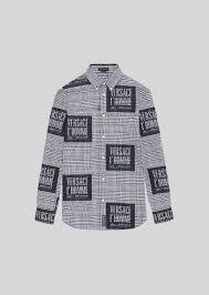 <b>Versace</b> L'Homme Motif <b>Prince</b> of Wales Shirt for Men | US Online ...