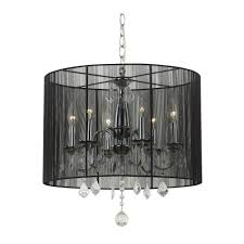 crystal chandelier pendant light with black drum shade chandeliers and pendant lighting