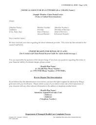 insurance denial letter printable documents insurance claim denial letter