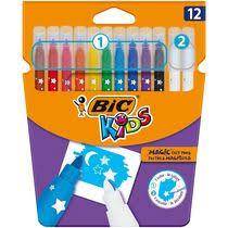 <b>Фломастеры цветные BIC</b> Kids <b>Magic</b> стираемые 10 цветов 12 ...