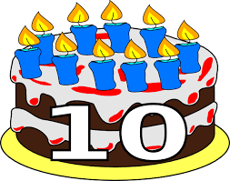 Image result for ten birthday cake