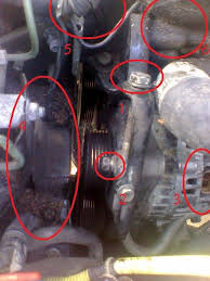 how to replace v drive altanator belt pics 56k be looking at the engine bay this is on the left side this is where most of the work will be done