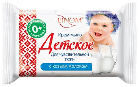 Купить Linom Детское <b>мыло</b> Для чувствительной кожи с <b>козьим</b> ...