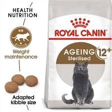 <b>ROYAL CANIN Ageing Sterilised</b> 12+ Dry Senior Cat Food - 4kg ...