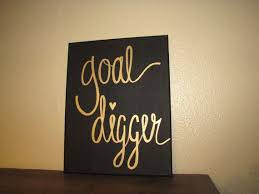 goal digger canvas art black and gold foil canvas quote office wall decor dorm room decor encouraging quote girl boss motivation quote art for the office wall