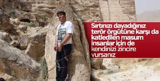 HDP'li vekil kendini kayaya zincirledi