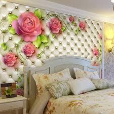 room elegant wallpaper bedroom: romantic rose photo wallpaper d flowers wall mural custom elegant wallpaper love murals kid wedding room