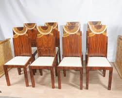 set art deco dining chairs inlay chair 1920s furniture art deco dining furniture