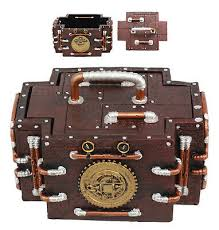 <b>steampunk</b> gas pressure valve jewelry box resin <b>antique vintage</b> ...