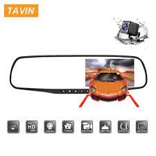 <b>TAVIN Dual</b> lens Car dvr Rearview Mirror <b>Dash cam</b> Full HD 1080P ...