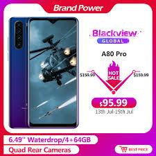 "<b>Blackview A80 Pro 6.49</b>"" Waterdrop 4GB + 64GB Smartphone Helio ..."