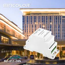 bc 812 dmx512 signal power repeater dmx amplifier 1 to 2 channel output splitter led controller dc12v 24v