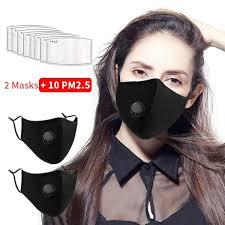 10Pcs PM2.5 Filter Reusable <b>Mask</b> 2 Pack <b>Cotton Mask Fashion</b> ...
