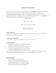 how to prepare a good resumes example of a good cv example of a  examples