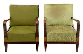 pair of 1920s art deco birch lounge chairs art deco chairs