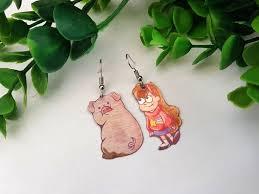 Gravity Falls Mabel Pines Waddles Pig <b>Cute Kawaii Metal</b> Dangle ...
