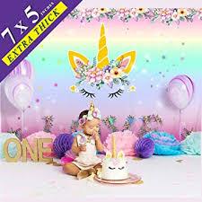 OurWarm Unicorn Party Supplies 7x5 Ft Unicorn ... - Amazon.com