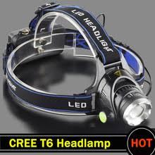 Фара T6 3000LM <b>светодиодный налобный фонарь led</b> питание ...