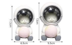 Hinnixy <b>Creative</b> Astronaut <b>Night Light</b> Dog Cat Bear Ornaments ...