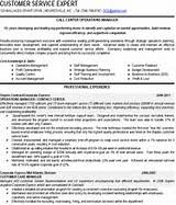 Call Center Operations Manager Resume   copywriter cover letter