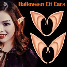 <b>1 Pair Latex Elf</b> Ears Cosplay Party Props Gift Halloween Costume ...