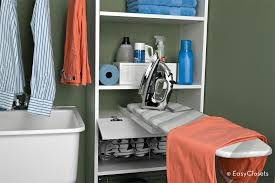 save space with a fold out ironing board a great alternative to the traditional bulky ironing board this fold out option is built right into the storage adequate storage space