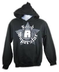 Edge Rated R Superstar Mens Black <b>Pullover</b> Hoody <b>Sweatshirt New</b>
