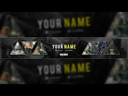 Free Call of Duty: Infinite Warfare YouTube Banner Template (PSD ...