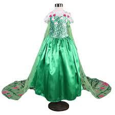 Online Shop 4-10 Years Anna Elsa Dress Girls Snow Queen Elsa ...