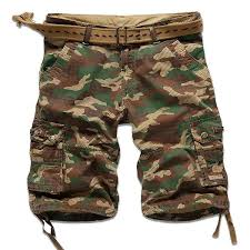 Camo <b>Multi</b>-<b>pocket Cargo Pants</b> Mens Cotton Outdoor Casual ...