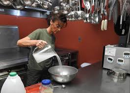 jail cooking up homemade meals savings daily bulldog lorna nichols cook supervisor at the franklin county detention center begins making dough for