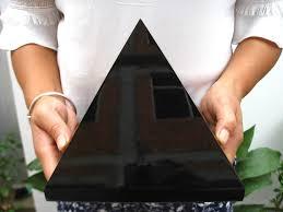 10.38lb HUGE <b>NATURAL Obsidian</b> quartz <b>crystal Pyramid</b> healing ...