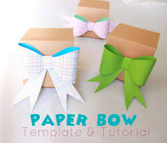 spool and spoon how to paper bow template how to paper bow template