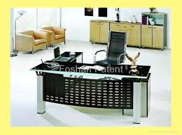 amazing glass table top and aluminum base office table fohj buy in office glass table amazing glass table top