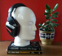 Mannequin head, head white, <b>headphone stand</b>, space age, head ...