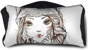 ENEVOTX Neck Sleeping Pillow American A Girl with ... - Amazon.com