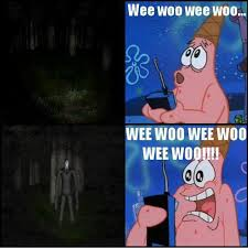 Image result for spongebob slenderman memes