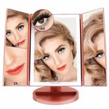 FASCINATE Lighted Makeup Mirror, Tri-fold Vanity Mirror with <b>36</b> ...